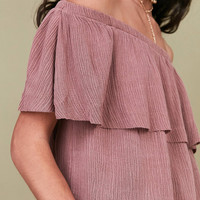 Ecote Winona Ruffle Off-The-Shoulder Top | Urban Outfitters