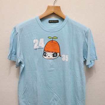 25% OFF Vintage 24HOUR TELEVISION T Shirt Light Blue Color Size L