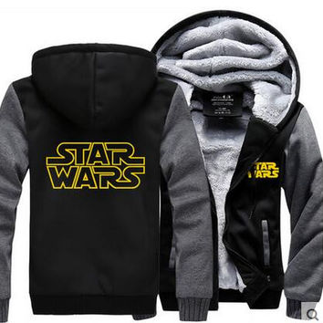 Hot New Star Wars  Hoodie Darth Vader Jedi knight  Winter Fleece Mens Sweatshirts Free Shipping