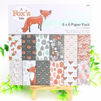 "24sheets/lot 6"" Fox Decorative Scrapbooking Kit"