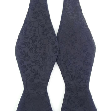 Black Pattern Paisley - Self-Tied Bow Tie
