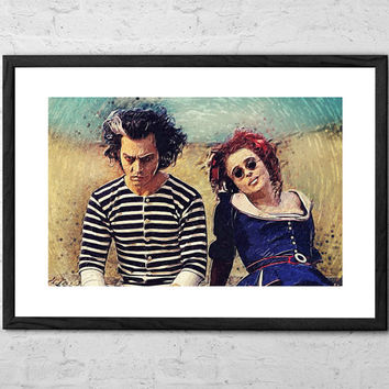 Sweeney Todd and Mrs. Lovett, Digital Painting - Wall Art Poster - Fine Art Print