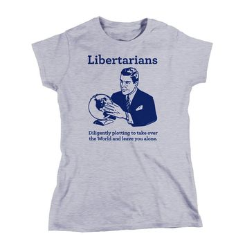 The Libertarian Plot Ladies Boyfriend Tee