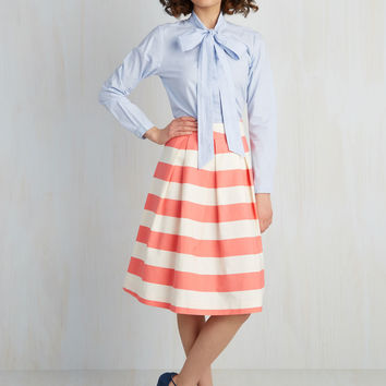 Whole Yacht of Love A-Line Skirt in Pink | Mod Retro Vintage Skirts | ModCloth.com