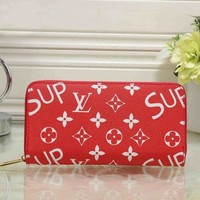 DCCKNQ2 LV x Supreme Women Fashion Clutch Bag Leather File Bag Tote Handbag-1