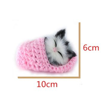 Super Cute Simulation Sounding Shoe Kittens Cats Plush Toys Kids Appease Doll Christma