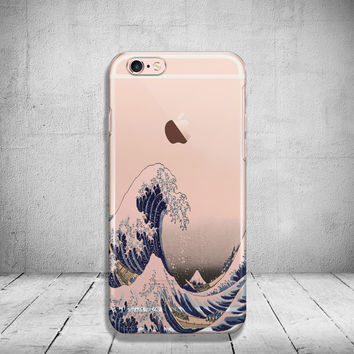 Unique iPhone 6 Case Wave Clear iPhone 6s Case Transparent iPhone 6 Plus Case iPhone 5/ 5s/ SE Case Soft Silicone iPhone Case