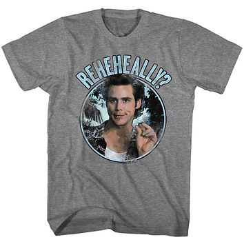 Ace Ventura T-Shirt Pet Detective Reheheally Circle Gray Tee