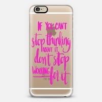 Can't Stop Don't Stop (pink) iPhone 6 case by Glitter & Bold | Casetify