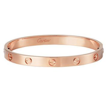 Authentic Cartier Love Bracelet 18K Pink Rose Gold size 19 19cm B6035619