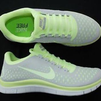 Nike Free 30 V4 Womens running Greenish gray shoes 709361d0af
