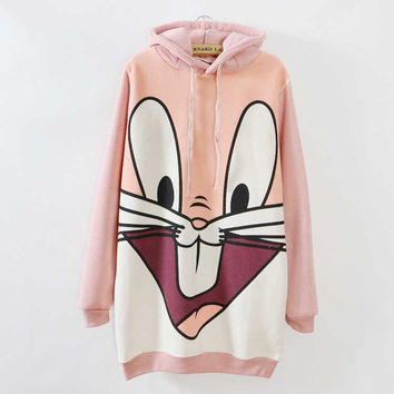 Casual Dress Emoji Rabbit Sweatshirt