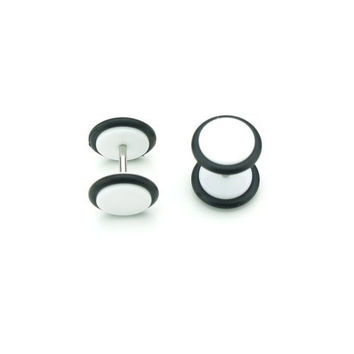 Solid White - Acrylic Fake Plugs - Cheaters - 2G Gauge - 6mm