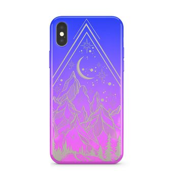 Gradient Chrome Shiny Happy Camper iPhone Case Cover