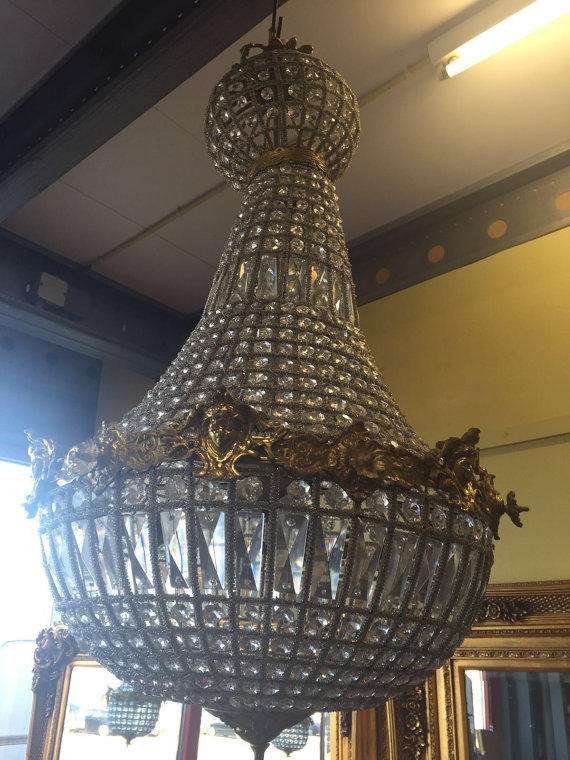 - Woman Face Chandelier LARGE Antique From SittinPrettyByMyleen On