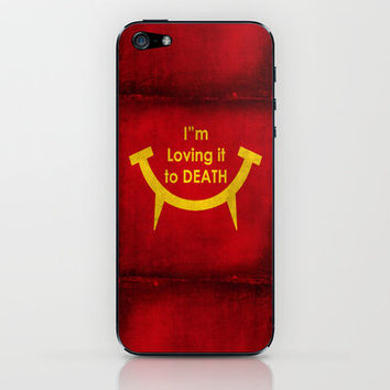 McViper the zombie and vampire fast food chain, Bloody good food is our motto! iPhone & iPod Skin by Bruce Stanfield