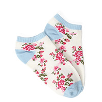 FOREVER 21 Rose Pattern Ankle Socks