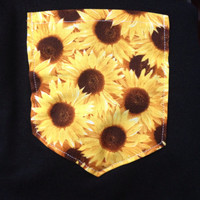 Sunflower Pocket Shirt tee S/M/L/XL