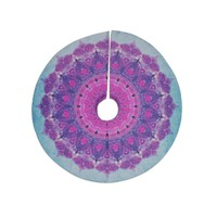 "Iris Lehnhardt ""Grunge Mandala"" Purple Blue Tree Skirt"