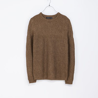 SWEATER WITH STRUCTURED YOKE