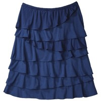 Merona® Women's Knit Ruffle Skirt - Assorted Colors