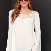 Bell Tolls Cream Lace Top