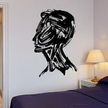 Wall Stickers Man Drawing Art Paint Coolest Decor Mural Vinyl Decal Unique Gift (ig1949)