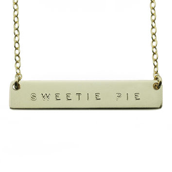 The Name Plate Necklace Sweetie Pie