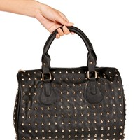 Black Studded Dome Handbag