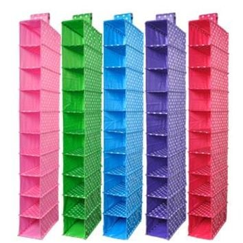 Organizadores Vacuum Bag Box Washable Color Organizer Collection Hanging Accessory Shelves 10-shelf Closet or Shoe Organizer 090