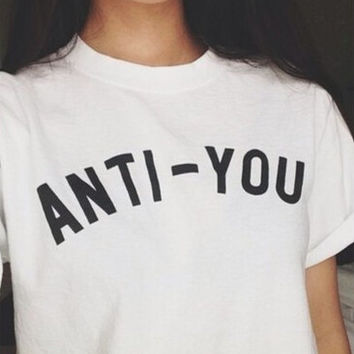 Cosy anti-you Print T-Shirts Tee for Men Women 12