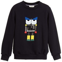 Boys Navy Blue 'Monster' Robot Sweatshirt