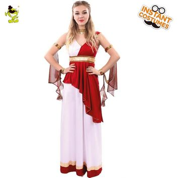 New Design Women's Deluxe Greek Goddess Costumes Adult Women Carnival Party Elegant Greek Queen&Princess Cosplay Dress