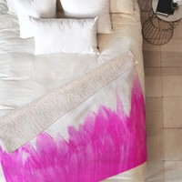 Allyson Johnson Pink Brushed Fleece Throw Blanket