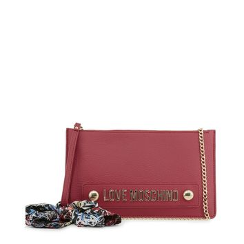 Love Moschino Red Leather Clutch Bag