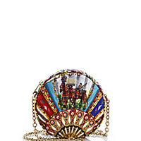 Dolce & Gabbana - Multicolor Brocade Fan Crossbody Bag - Saks Fifth Avenue Mobile