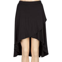 FULL TILT Solid Wrap Hi Low Skirt 195379100 | skirts | Tillys.com