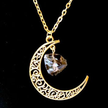 Sailor Moon Necklace ~Sun And Moon ~60cm Natural Stone Crystal Amethyst Tourmaline Necklace  5