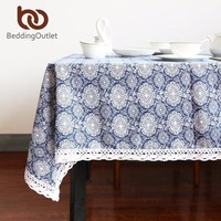 Flower Tablecloth Cotton And Linen Dinner Table Cloth