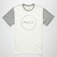 Rvca Circle Sketch Mens T-Shirt Off White  In Sizes