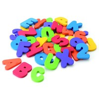 Educational Childrens Bath Toys; 36 Numbers & Letters