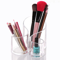 Acrylic Makeup Brush Organizer Cosmetic Holder Box
