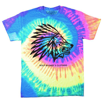 Wolf In Chiefs Clothing Tie Dye T-Shirt (Neon)