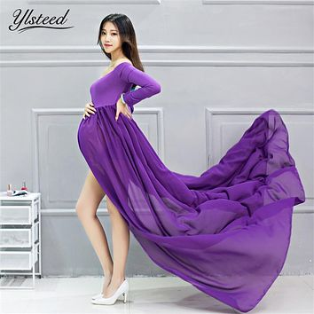 Maternity gown for photography maternity photography dress sexy off shoulder pregnant dresses pregnancy clothes for photo shoot