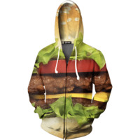 Hamburger Zip up Hoodie