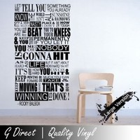 Rocky Balboa Mural Inspirational Quote Wall Sticker Bedroom Home vinyl Decal 60x150: Amazon.co.uk: Kitchen & Home