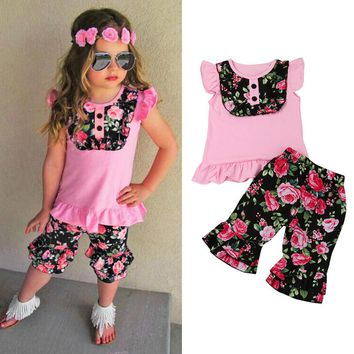 Girls Floral Me Crazy Outfit