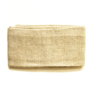 "Natural Burlap Fabric Sheet Size: 22"" X 35"""