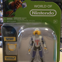 World of Nintendo 4in - Series 1-5 - Zelda Ocarina of Time 3D - Sheik (New)