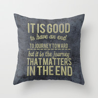 Journey Throw Pillow by secretgardenphotography [Nicola]